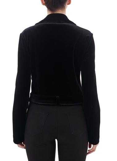 Emporio Armani  Kruvaze Yaka Ceket Kadın Ceket 6H2B6B 2Jwwz 0999 Siyah